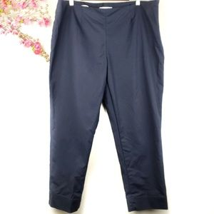 Ellen Tracy navy ankle cropped pants size 16